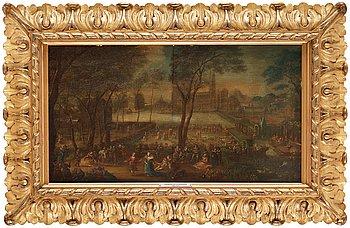 JOHANN PHILIPP VON DER SCHLICHTEN, attributed to. Panel 39.5 x 68 cm.