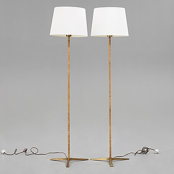 A pair of floor lamps, 1940's-.