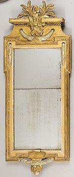 A Gustavian Mirror by Johan Åkerblad, signed IÅ, Stockholm's hallmark 1778.