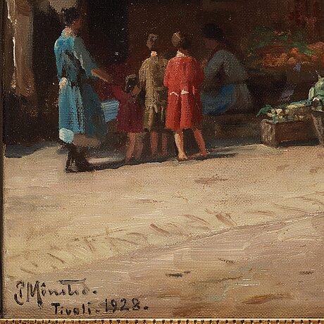 Peder mork mönsted, street scene from tivoli.