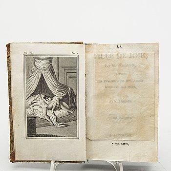 """BOOK,""""La Fille de Joie,  Les memoires de Mademoiselle Fanny..."""" by John Cleland  London 1776."""