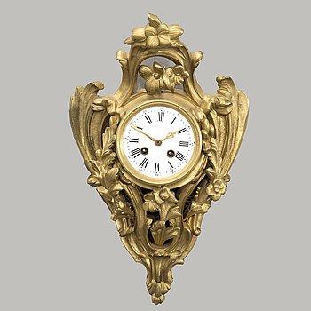 VÄGGPENDYL, Louis XV-stil Japy Frères et Cie Paris sent 1800-tal.