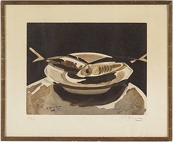 GEORGES BRAQUE, after, quatint and etching, ca 1950, signed and numbered 198/300.