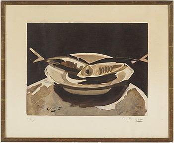 GEORGES BRAQUE, efter, färgakvatint, ca 1950, signerad med blyerts 198/300.