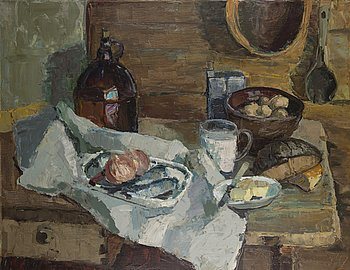 ORVO RAATIKAINEN, oil on canvas, signed and dated -74.