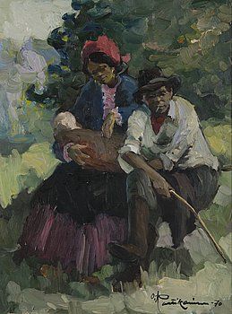 ORVO RAATIKAINEN, oil on canvas, signed and dated -70.