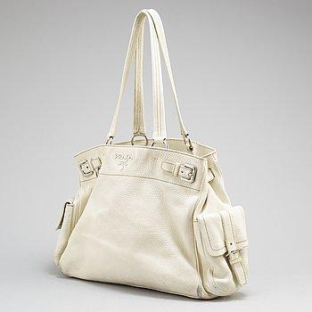 A leather Prada bag.