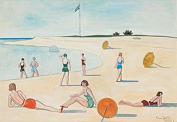 408. Einar Jolin, On the beach.