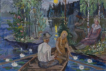 YNGVE BÄCK, oil on canvas, signed and dated 1938.