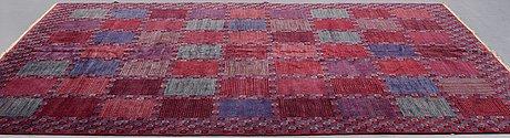 "Barbro nilsson, a carpet, ""rödingen"", knotted pile, ca 316,5 x 255 cm, signed ab mmf bn."