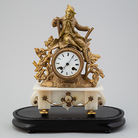 An end of the 19th century mantle clock
