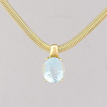 A NECKLACE, pendant H. Stern,  facetted topaz, 18 and 14K gold.