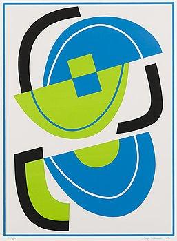 SAM VANNI, serigrafi, signerad och daterad -82, numrerad 71/75.