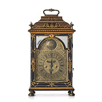 131. A Swedish late Baroque table clock by Petter Ernst, Stockholm 1753-54.