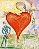 """Nils von dardel, """"heart on fire"""" (ett hjärta i brand)."""