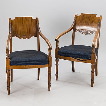 A pair of arm chairs, probably the Baltics from around the turn of the 20th Century.