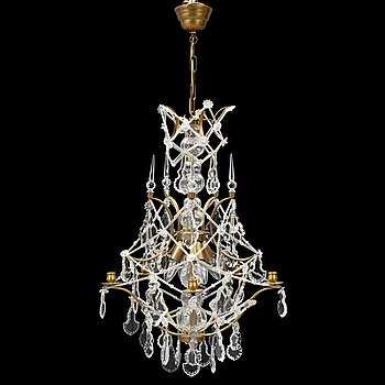 A late 20th century rococostyle chandelier.