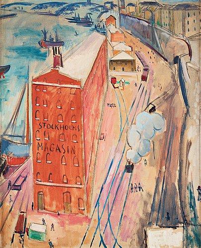 """Isaac grünewald, """"från stadsgården""""."""