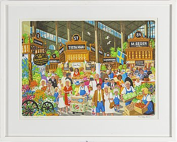 BERT HÅGE HÄVERÖ, lithograph in colours, signed and numbered HC 19/38.