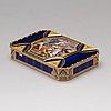 A swiss early 19th century gold and enamel box, mark of guidon, gide & blondet, geneva 1801-1804.