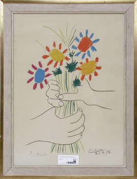 PABLO PICASSO, litografi, sign o dat i trycket, blyertssign o numr 17/200.