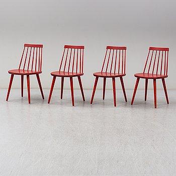 YNGVE EKSTRÖM, a set of four 'Pinnochio' chairs.