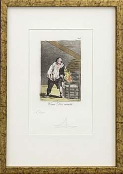 SALVADOR DALÍ, a signed and numbered lithograhp.