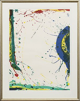 SAM FRANCIS, a signed lithograph.