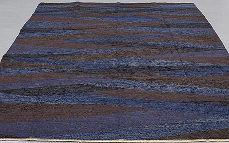 """Elsa gullberg, a carpet, """"fjärden"""", flat weave, ca 274,5 x 211 cm, designed by elsa gullberg around 1950."""