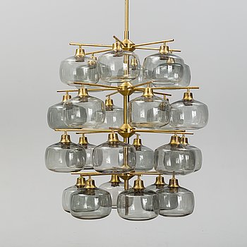 HOLGER JOHANSSON, a mid 20th century ceiling lamp by Westal, Bankeryd, Sweden.