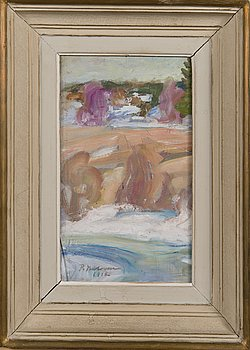 PEKKA HALONEN, oil on board, signed and dated 1912.