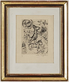 MARC CHAGALL, etching, signed and numbered 25/35.