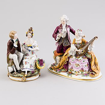 PORCELAIN FIGURINES, 2 pcs.
