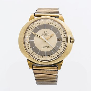 An Omega Genève Dynamic wrist watch.