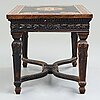 A pietre dure top, italy, circa 1900, probably rome or naples. the stand in louis xiv-style.