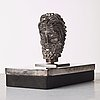 Anna petrus, a swedish grace silver plated paperweight executed by karl wojtech, stockholm 1920's.