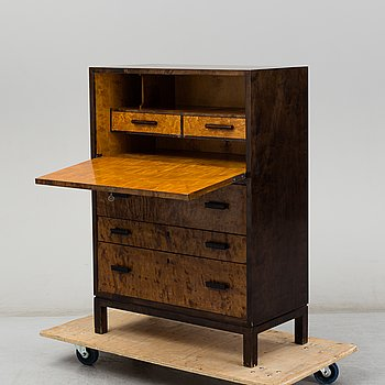 A Swedish Modern stained birch secretaire, 1930's/40's.
