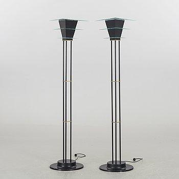 GOLVLAMPOR / UP-LIGHTS, ett par, Sussie Fischer 1989, Atelje Lyktan.