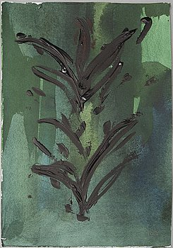 LENNART RODHE, watercolour and oil on paper, signed.