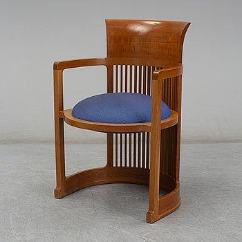 FRANK LLOYD WRIGHT, 606 'Barrel Chair', Cassina,