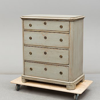 A second half of the 19th Century painted chest of drawers.