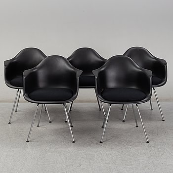 CHARLES & RAY EAMES, Five 'Plastic Armchairs', Vitra.