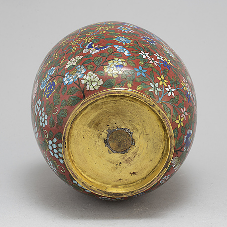 A chinese cloisonne vase, 20th century