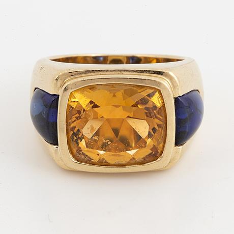 A citrine ring.