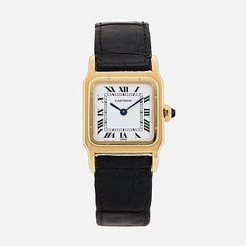 CARTIER, Santos, armbandsur, 25 x 25 mm.