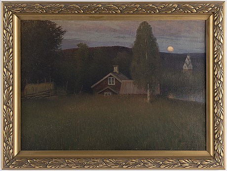Anshelm schultzberg, oil on canvas, signed and dated vid rämen  99