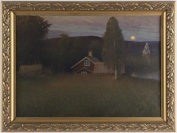 ANSHELM SCHULTZBERG, oil on canvas, signed and dated Vid Rämen -99.
