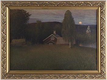 ANSHELM SCHULTZBERG, olja på duk, signerad och daterad Vid Rämen -99.