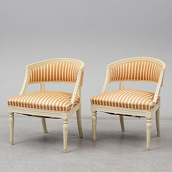 A mid 20th Century late Gustavian style armchairs.