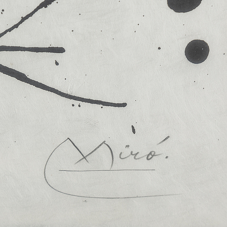 Joan mirÓ, a colour lithograph, signed and numbered 2/50.